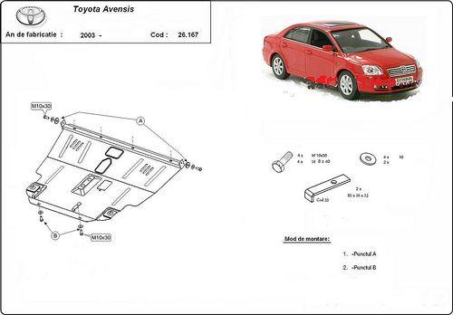 Un scut de motor toyota avensis, intotdeauna necesar, pentru ca masina sa se mentina #scut #motor #toyota #avensis