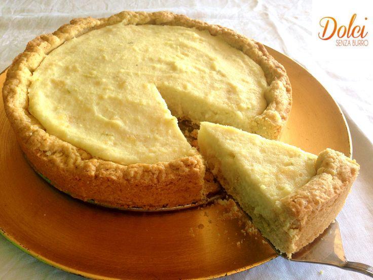 Crostata di Semolino Senza Burro - Dolci Senza Burro