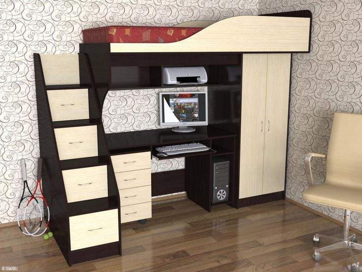 Stunning Gothic Study Table Under Bed With Small Wardrobe Beside Table Also  Elegant Wallpaper Decor And Part 70