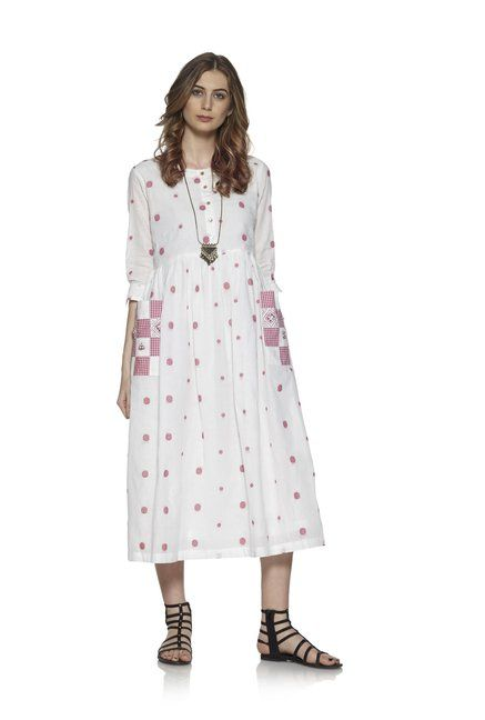 801176195ad Bombay Paisley by Westside Red Pure Cotton Dress