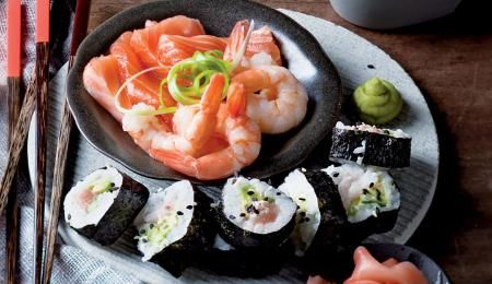 Get guests to roll their own healthy sushi with fillings of their choice.