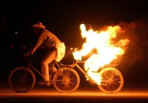 The Flaming Bicyclist at Burning Man (Video) | Daily Dawdle