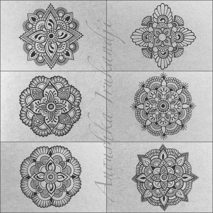 Anoushka Irukandji   Six tiny Moleskine Mandalas….   All the Notebooks...