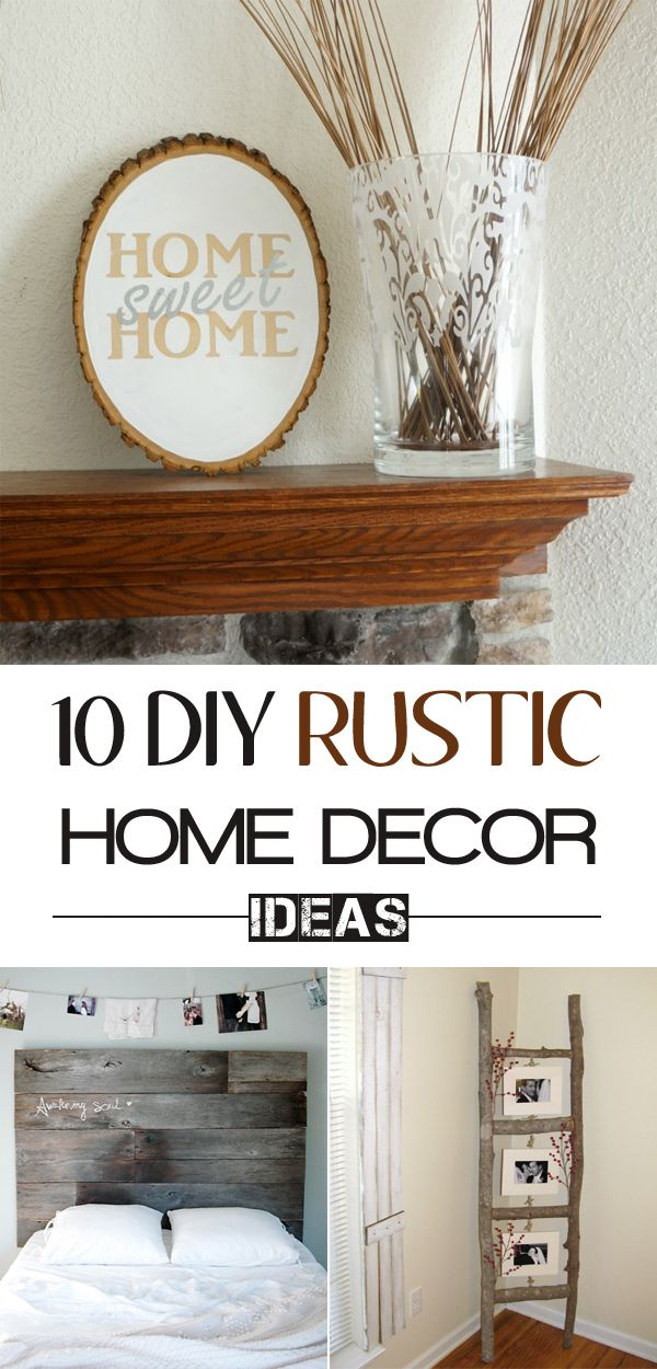 10 diy rustic home decor ideas