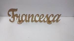 Resultado de imagen para nombres en madera