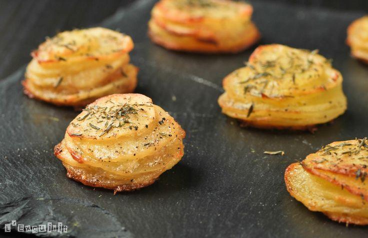 Patatas al aceite de ajo y tomillo {horno}
