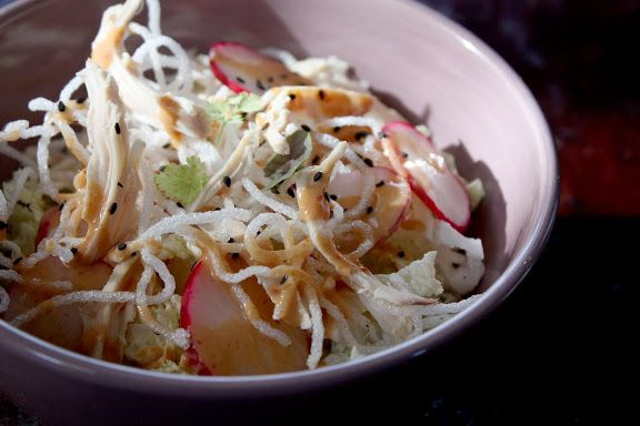 how to cut napa cabbage for salad