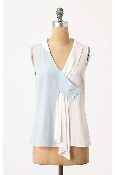 Such an unusual take on a typical sleeveless tank. Love how different this is!