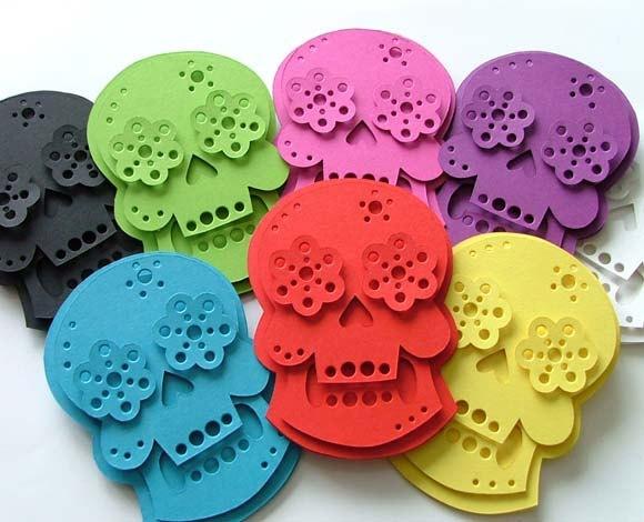 Halloween Printable Garland Skulls Decoration by TheDollCityRocker, $15.00