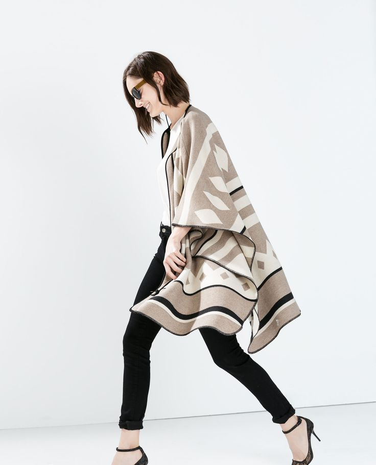 Kind of loving the blanket coat trend. Especially this one.
