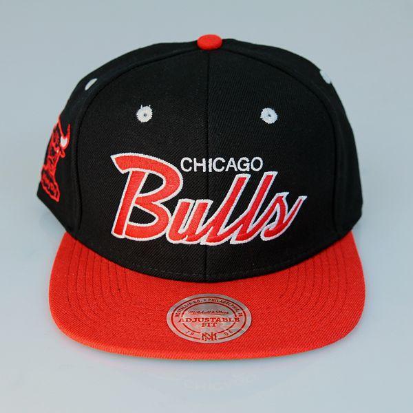Mitchell & Ness 2 Tone Script Snapback Chicago Bulls (NBA) in Black - czapka Mitchell & Ness - oficjalnie licencjonowany …