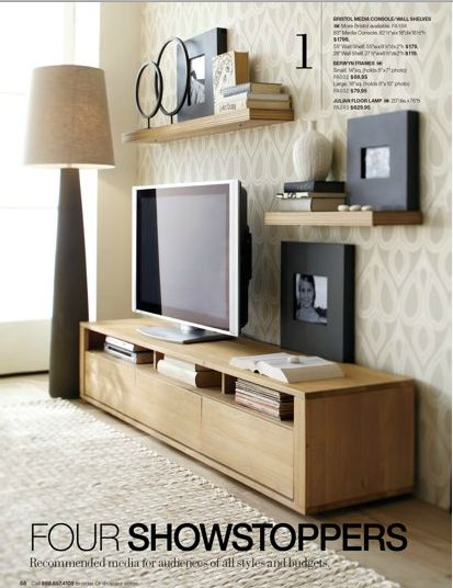 Media soloution? White oak from crate and barrel - too grey?