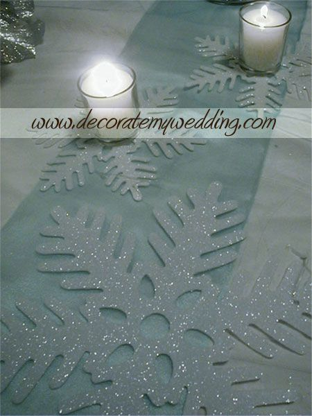 accents with branches.... for winter wonderland..... :)