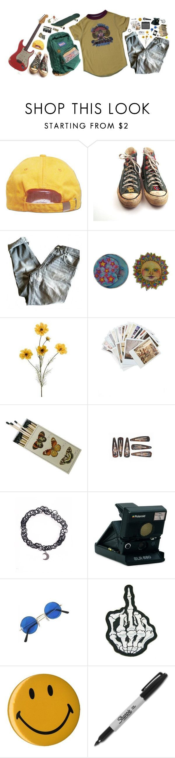 """you stole"" by xambergurlx ❤ liked on Polyvore featuring Converse, Golden Goose, Chronicle Books, Moleskine, Polaroid, Sharpie, Relic and vintage"