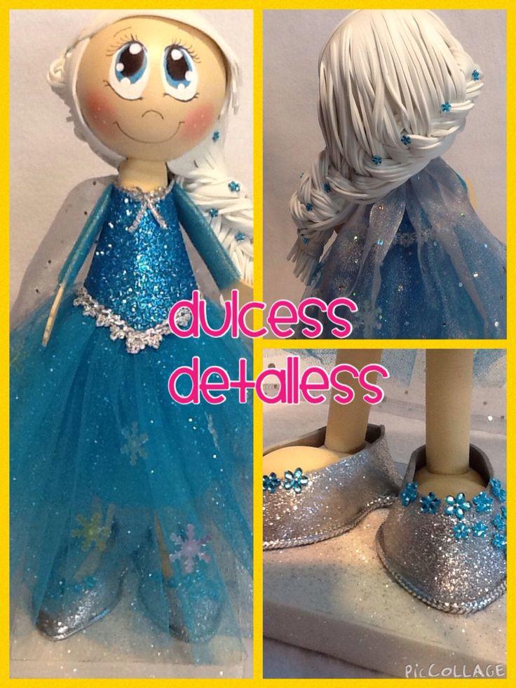 Fofucha Princesa Elsa de Frozen http://www.facebook.com/dulcessdetalless
