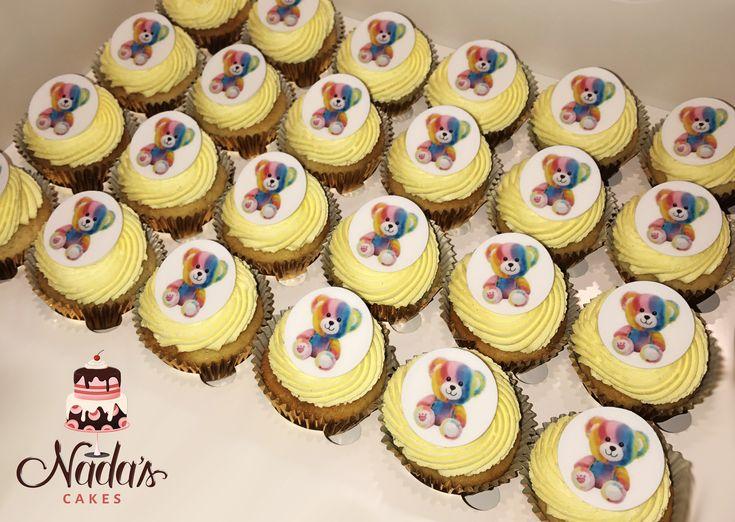 Baby Bear Birthday Cupcakes