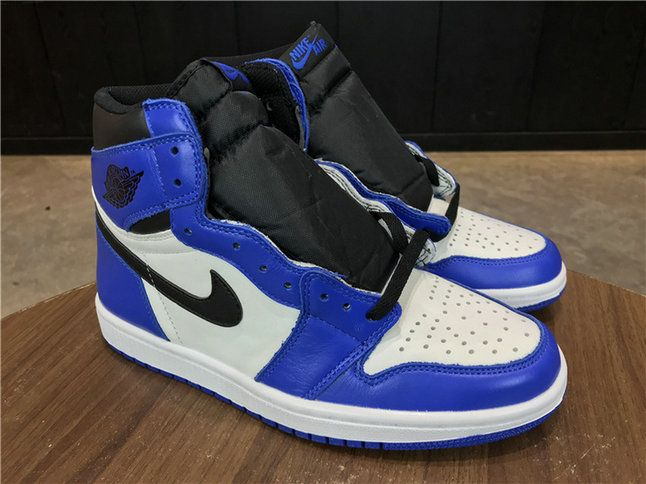 caadb5c3fdeb Nike Air Jordan 1 Retro High Og Game Royal 555088 403 Game Royal Summit  White Black 2018 Popular Shoe