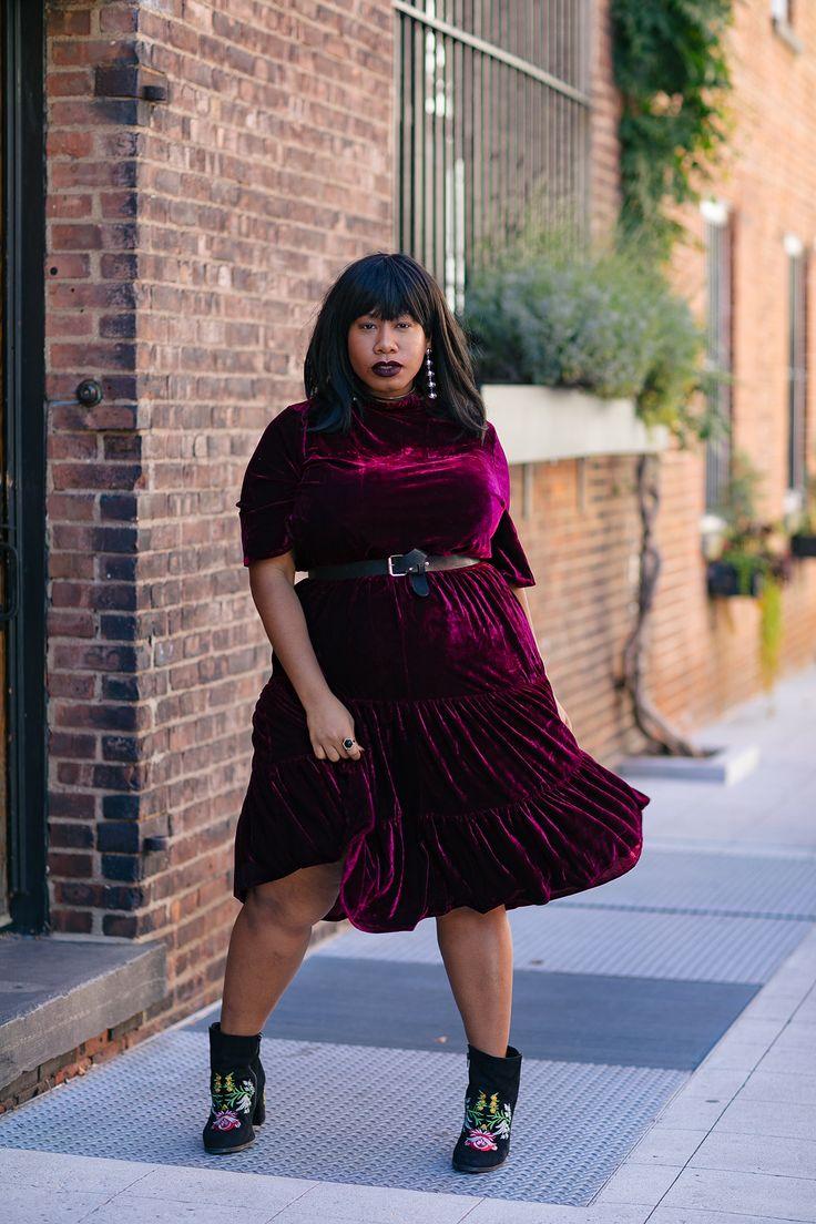 Plus Size Velvet Dress - Plus Size Fashion for Women #plussize