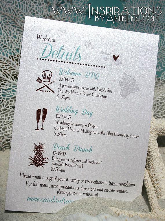 Beach Wedding Invitations by InspirationsbyAmieLe on Etsy, $50.00