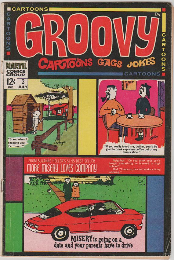 Groovy V1 3.  FN.  Jul 1968.  Marvel Comics by RubbersuitStudios, $12.50 #groovy #comicbooks