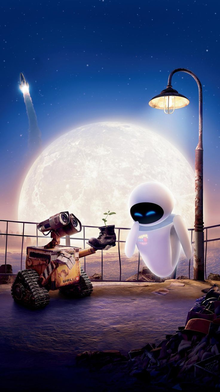 WALL·E (2008) Phone Wallpaper – #Fondo de pantalla iphone disney #Fondo de pant…