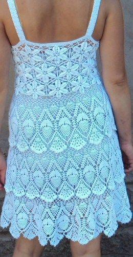 patrón de vestido de crochet Diagramas pdf