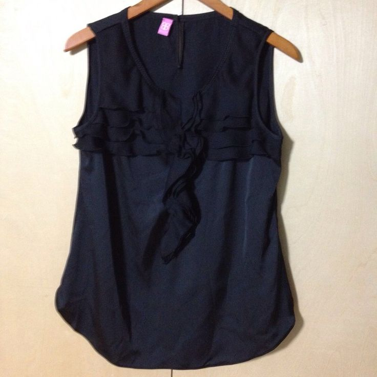 My Basler sleeveless black blouse shell with ruffles sz 38 or Medium. German clothing brand. by ! Size 8 / M for $$32.00. Check it out: http://www.vinted.com/womens-clothing/sleeveless-and-tank-tops/22346022-basler-sleeveless-black-blouse-shell-with-ruffles-sz-38-or-medium-german-clothing-brand.