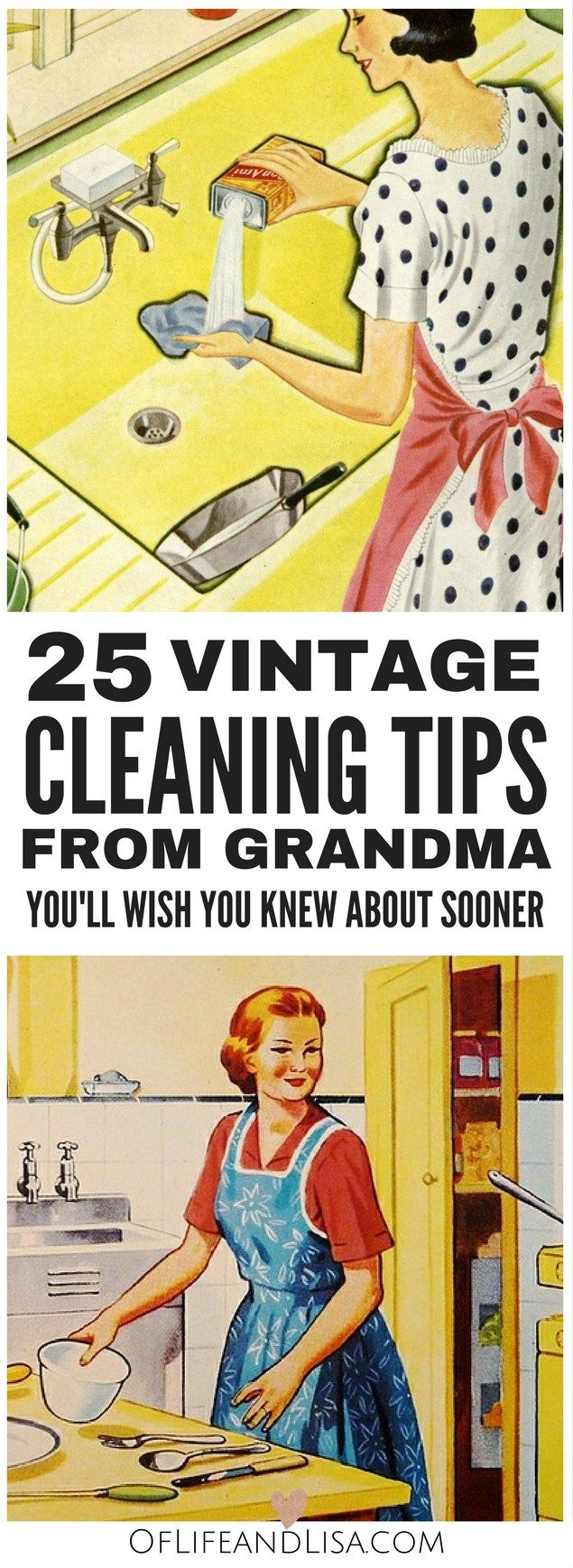 '25 Housekeeping Secrets from Grandma You'll Regret Missing...!' (via Of Life and Lisa)