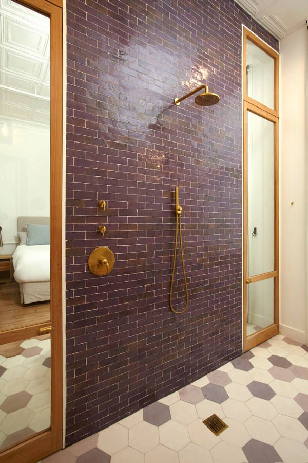 Soaker tub at the end of the bed and a wonderful wet room. Don't even get me started on the til...