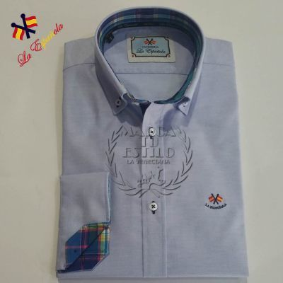 Camisa La Española Celeste Oxford