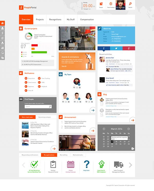 sharepoint design intranet design ui design intranet portal ui