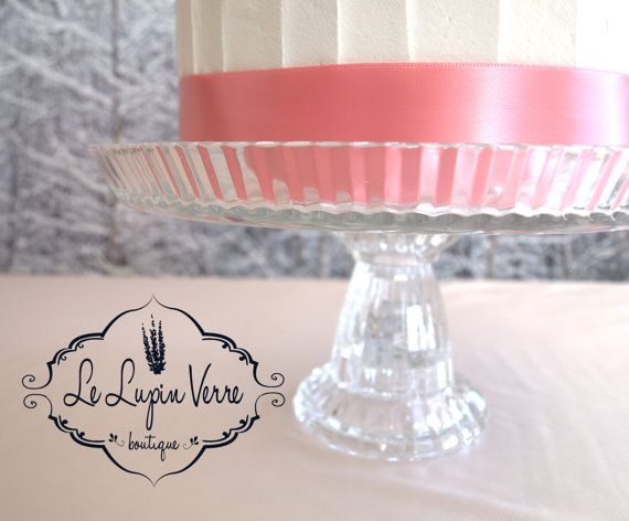 9 7/8 Vintage Handmade Wedding Cake Stand One Of A by LeLupinVerre
