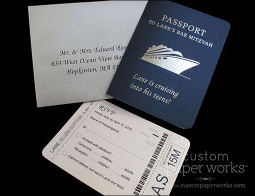 船版パスポートチケットの招待状。