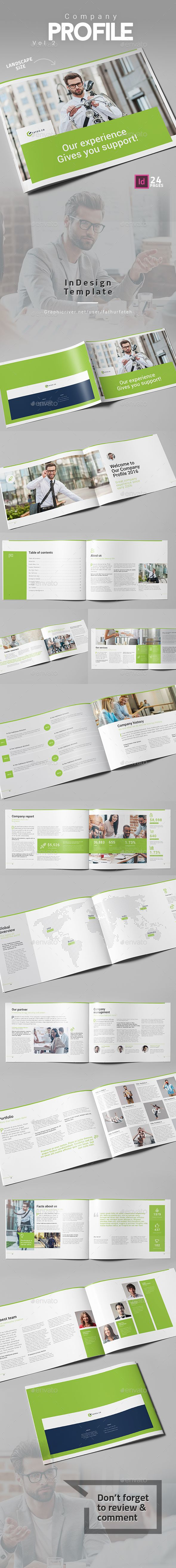 Landscape Company Profile Brochure Template InDesign INDD - 24 Pages