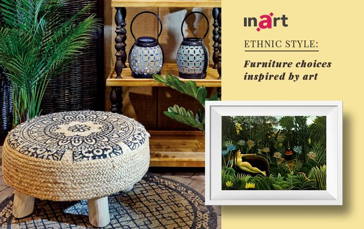 "Love ethnic décor? Take a look on our proposal, inspired by Henri Rousseau's ""Dream"", here http://www.inart.com/en/blog/ethnic-style-furniture-choices-inspired-by-art.html #inart #inspiredhome"