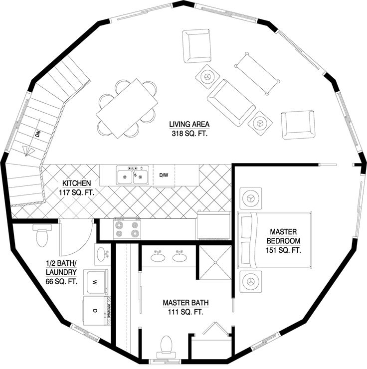 391 best Oktogone images on Pinterest | Floor plans, Round house and ...