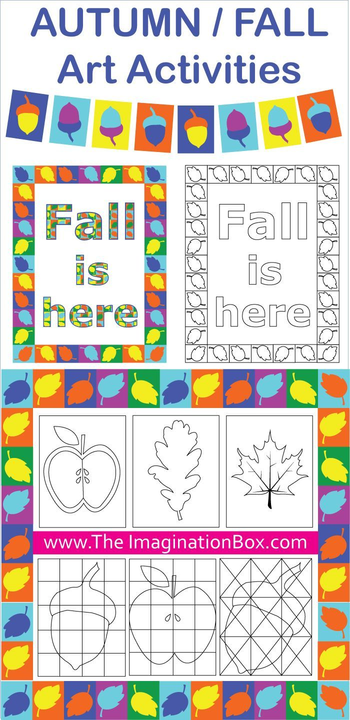 Fall/Autumn creative art activities and classroom decor pack. Focusses on geometric shapes, doodles, patterns, color and design.