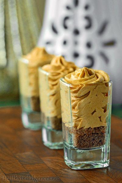Sugar-Free Pumpkin Cheesecake Mousse is even yummier than Pumpkin Pie! Made with a sweet gluten-free nut crust.  #sugarfree #healthy