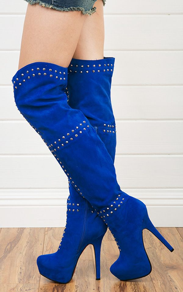1000  images about Blue Boots on Pinterest   6 inch heels, Ankle ...