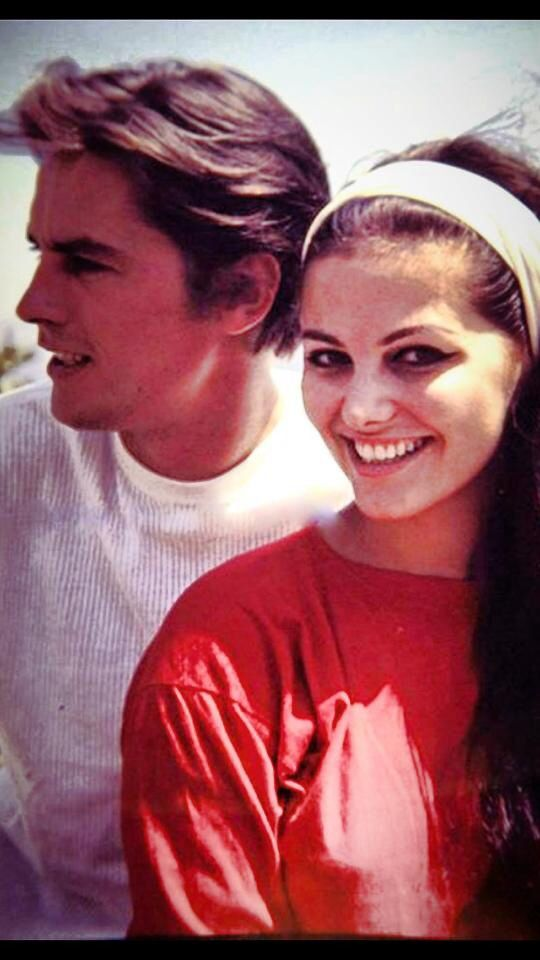 Alain Delon and Claudia Cardinale