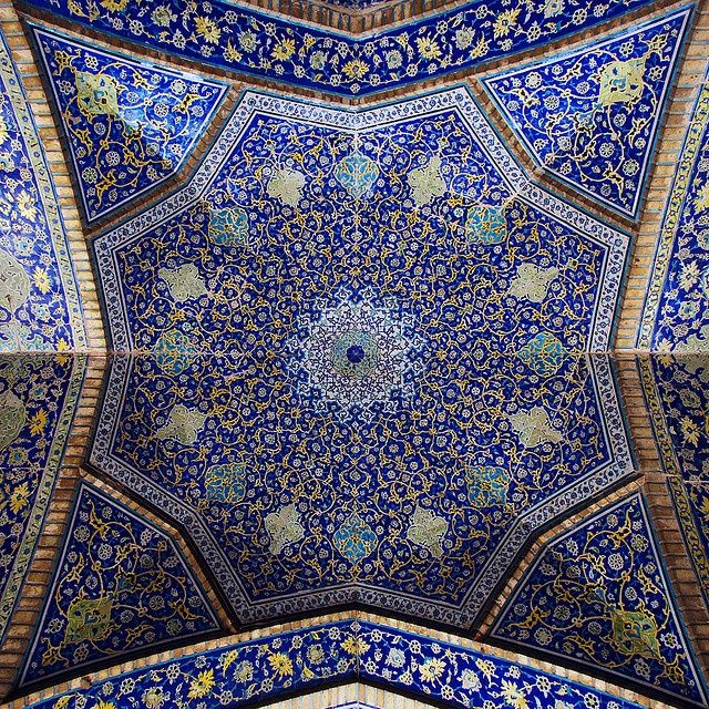 Muslim Mosques throughout the world contain some of the most beautiful architecture and interior designs which have sublime intricate patterns. In today's post we'll be looking at some delightful and breathtaking mosque ceilings, these ceilings