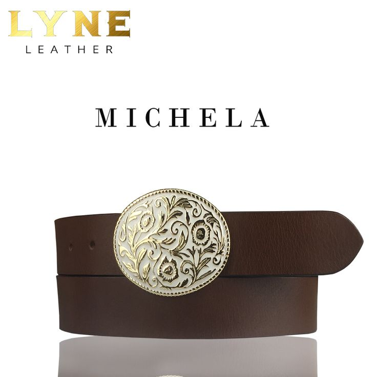'MICHELA' FLORAL BELT. Best Australia High-Quality Genuine Leather Belt with a strong and reliable floral buckle. Discover more of it's fascinating features. #fashion #australia #leather #belt