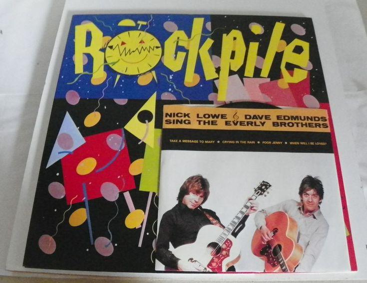 ROCKPILE LP & 45 SECONDS OF PLEASURE NICK LOWE & DAVE EDMONDS COLUMBIA JC36886  #PunkNewWaveRocknRoll