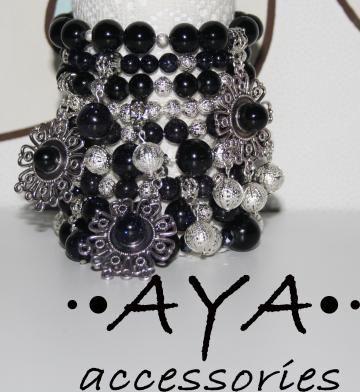 """A set of bracelets """"Sparkling Black"""" by AYASHOP for $69.00"""