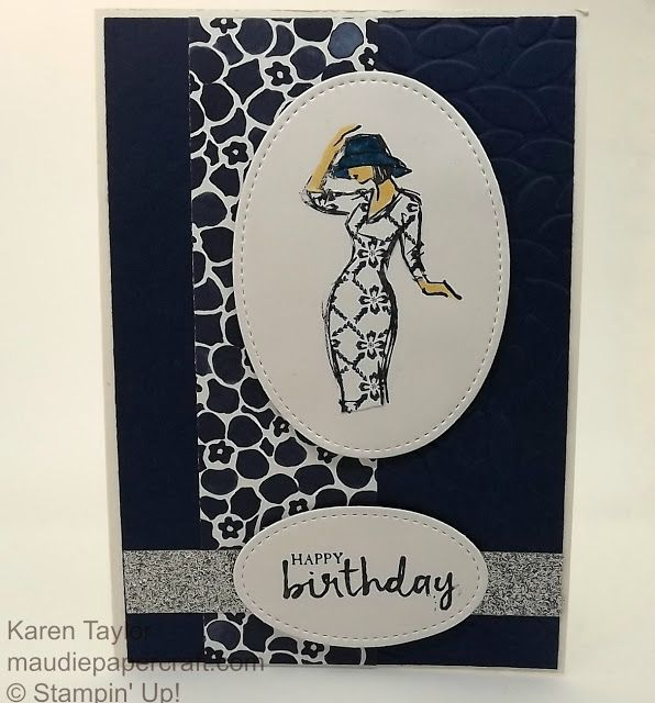 MaudiePapercraft: Stampin' Up! Beautiful You card using paper piecin...