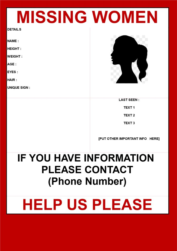 Missing person poster template publish with flyer \u2013 azizpjaxinfo