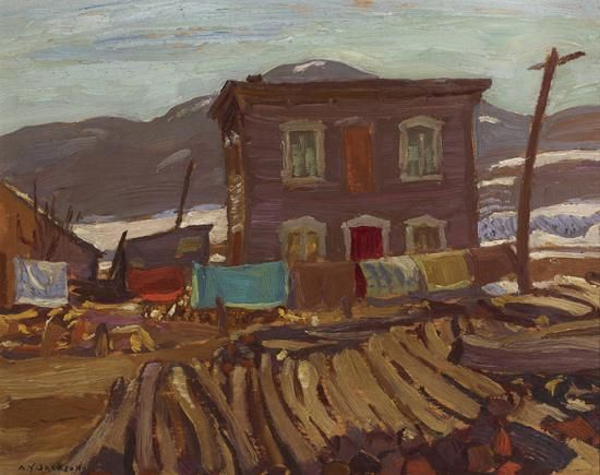 A.Y. Jackson - House at Baie-Saint-Paul 8.5 x 10.5 oil on panel