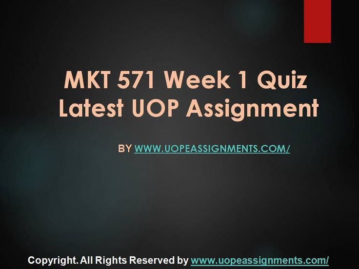 Get an A+ is quite difficult but knowing that the how to get it and still not doing so is foolish. Join http://www.UopeAssignments.com/ and we provide all the course including MKT 571 Week 1 Quiz Latest UOP Assignment that will lead you to success