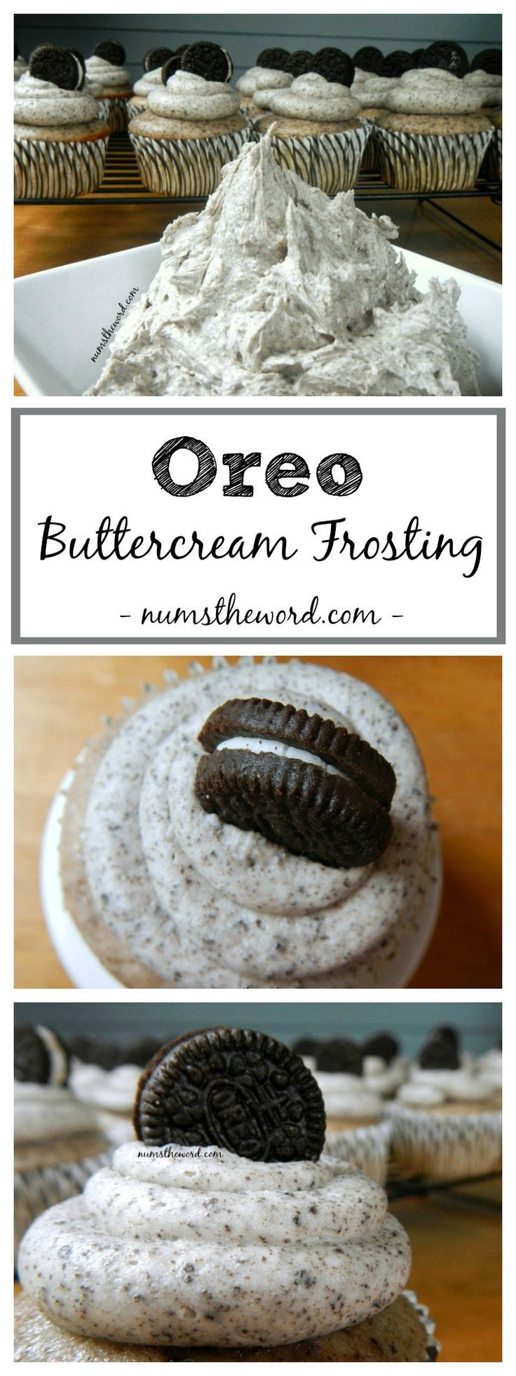 Oreo Buttercream Frosting is the BEST frosting you'll ever eat. It tastes JUST LIKE AN OREO and is perfect as a cake frosting or a cupcake frosting! More