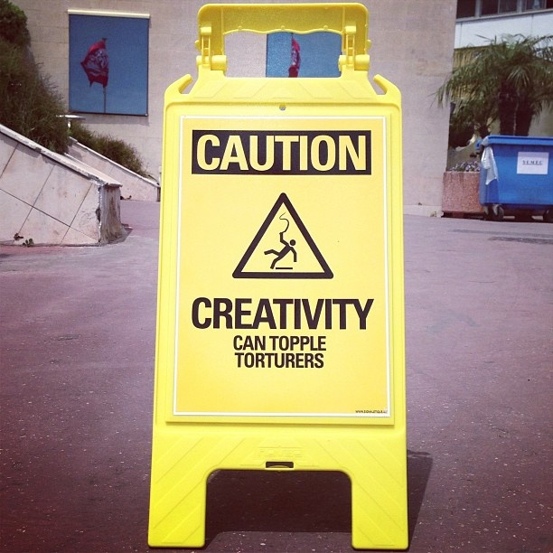 'Caution: creativity can topple torturers.' – Act Responsible at CannesLions proving that good causes deserve great advertising.  Via @Alex Jones Jones Reeves #canneslions #actresponsible